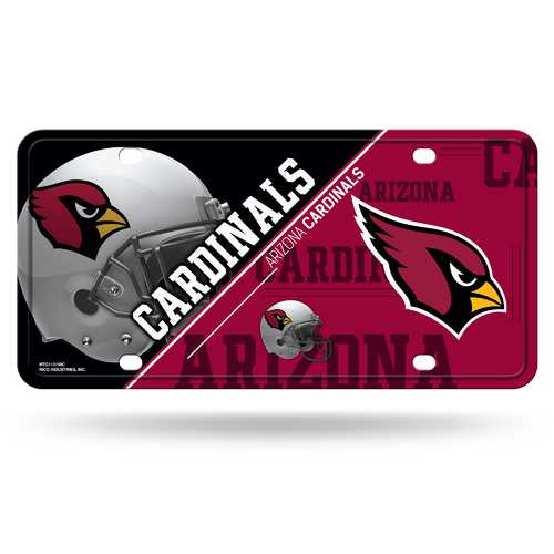 Arizona Cardinals License Plate Metal