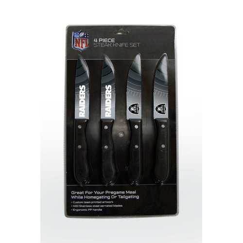 Oakland Raiders Knife Set - Steak - 4 Pack