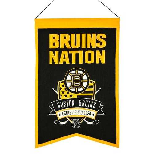 Boston Bruins Banner 14x22 Wool Nations Special Order