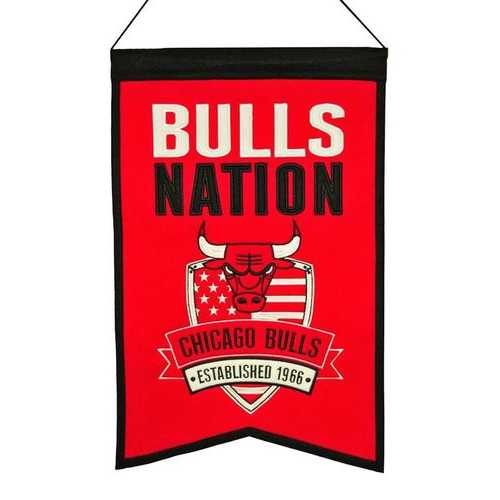 Chicago Bulls Banner 14x22 Wool Nations Special Order