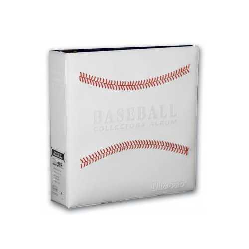 3 Inch Baseball Album - White Stitched - Ultra Pro
