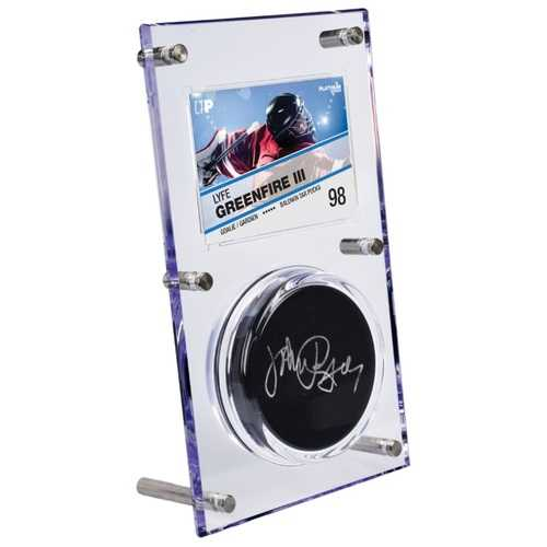 Clear Puck & Card Flip Display 35pt