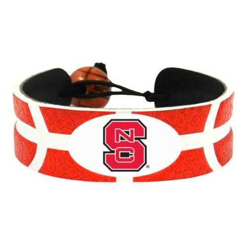 North Carolina State Wolfpack Team Color Basketball Bracelet