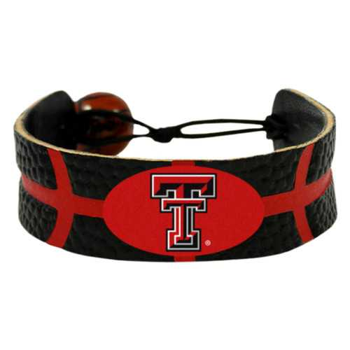 Texas Tech Red Raiders Team Color Basketball Bracelet