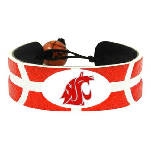Washington State Cougars Team Color Basketball Bracelet