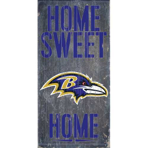 """Baltimore Ravens Wood Sign - Home Sweet Home 6""""x12"""""""