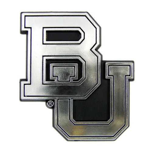 Baylor Bears Auto Emblem - Silver Special Order