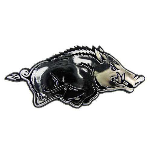 Arkansas Razorbacks Auto Emblem - Silver