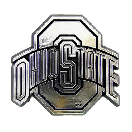 Ohio State Buckeyes Auto Emblem - Silver