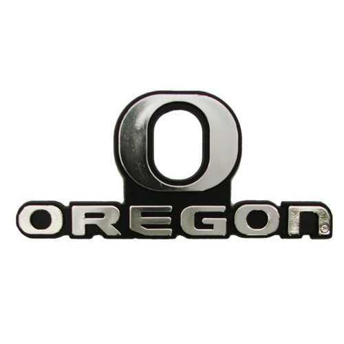 Oregon Ducks Auto Emblem - Silver
