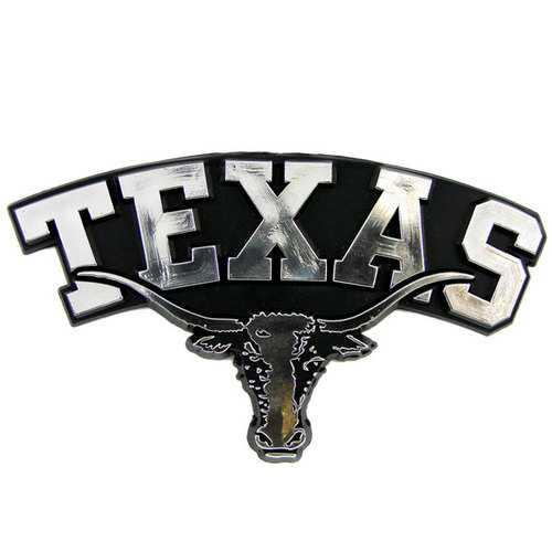 Texas Longhorns Auto Emblem - Silver