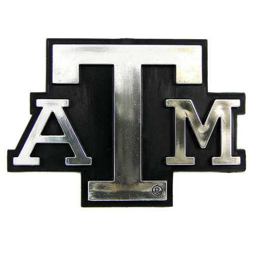Texas A&M Aggies Auto Emblem - Silver