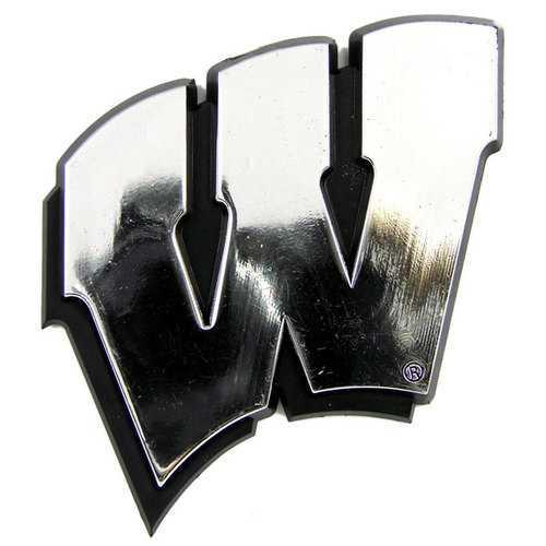 Wisconsin Badgers Auto Emblem - Silver