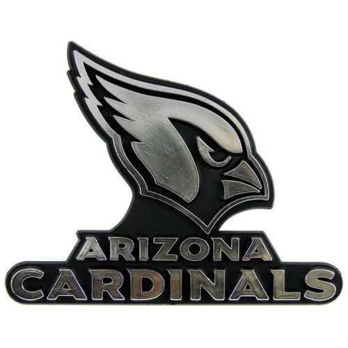 Arizona Cardinals Auto Emblem - Silver