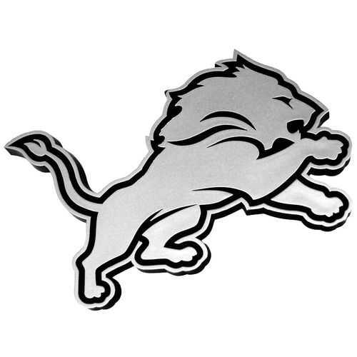Detroit Lions Auto Emblem - Silver