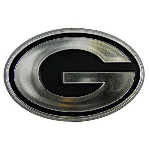 Green Bay Packers Auto Emblem - Silver