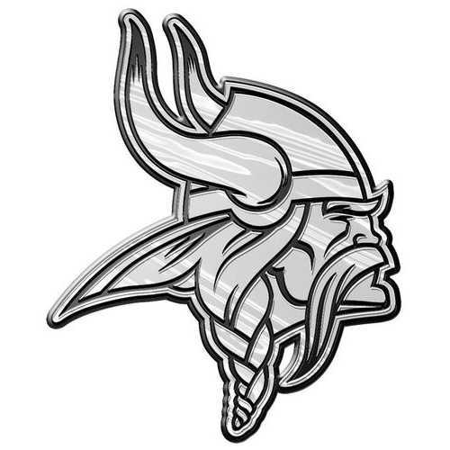 Minnesota Vikings Auto Emblem - Silver