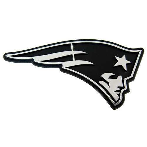 New England Patriots Auto Emblem - Silver