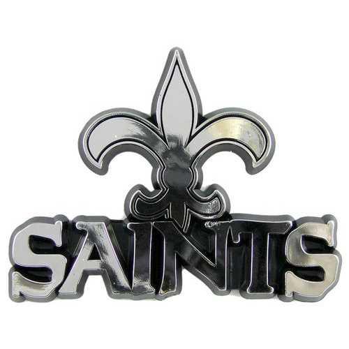 New Orleans Saints Auto Emblem - Silver