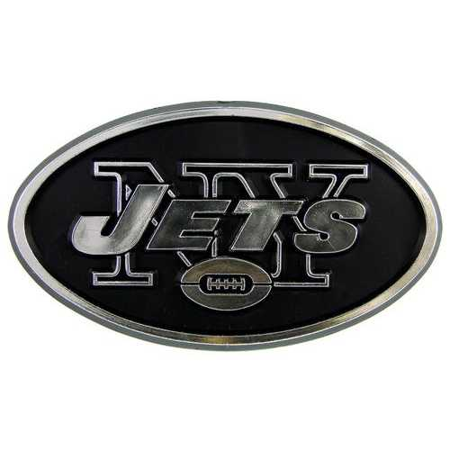 New York Jets Auto Emblem - Silver