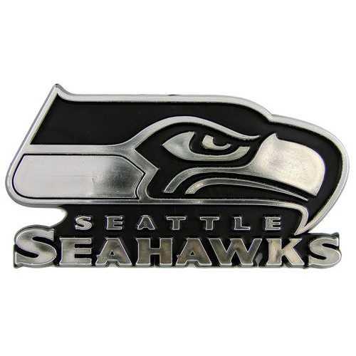 Seattle Seahawks Auto Emblem - Silver