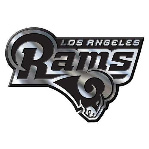 Los Angeles Rams Auto Emblem - Silver