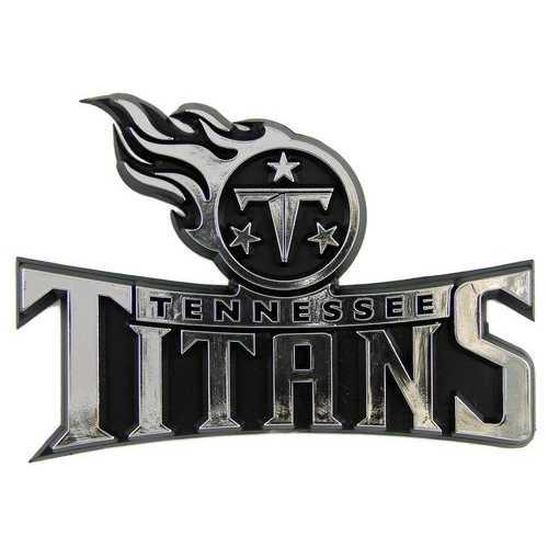 Tennessee Titans Auto Emblem - Silver