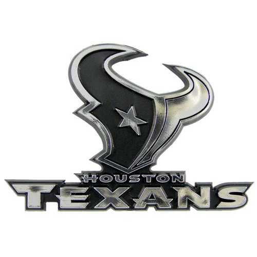 Houston Texans Auto Emblem - Silver