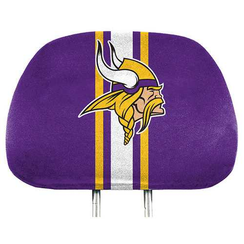 Minnesota Vikings Headrest Covers Full Printed Style Special Order