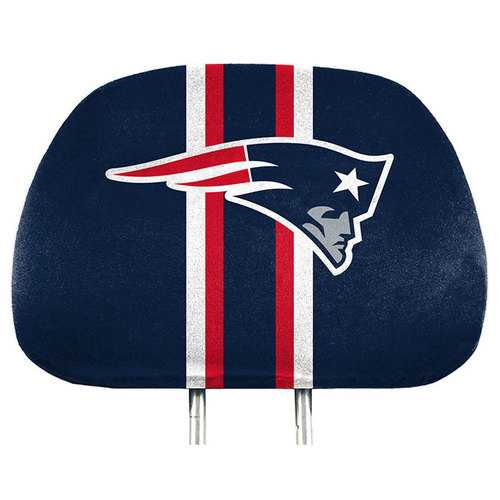New England Patriots Headrest Covers Full Printed Style