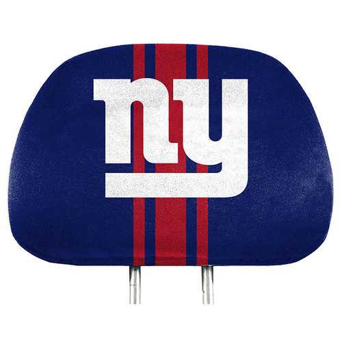 New York Giants Headrest Covers Full Printed Style