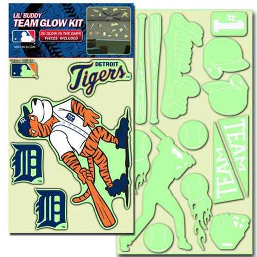 Detroit Tigers Decal Lil Buddy Glow in the Dark Kit