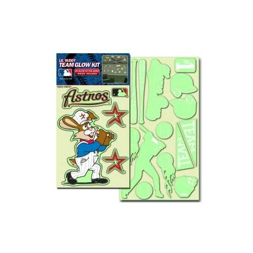 Houston Astros Decal Lil Buddy Glow in the Dark Kit
