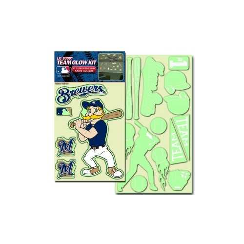 Milwaukee Brewers Decal Lil Buddy Glow in the Dark Kit