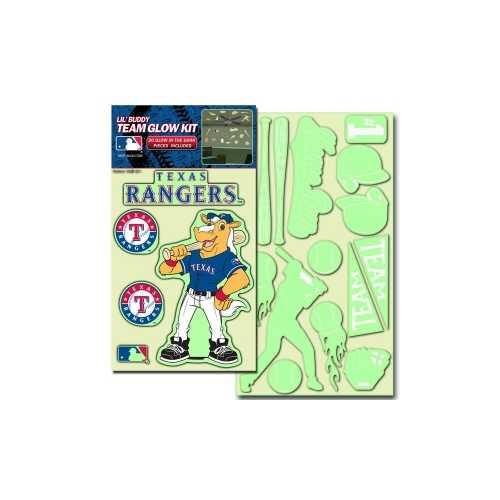 Texas Rangers Decal Lil Buddy Glow in the Dark Kit