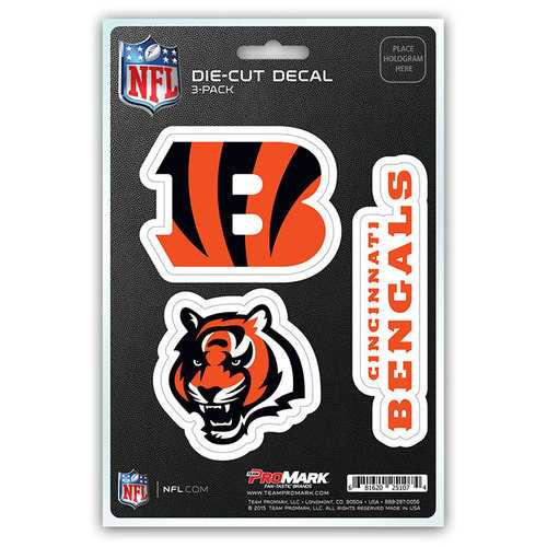 Cincinnati Bengals Decal Die Cut Team 3 Pack