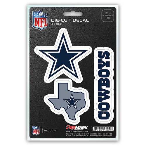 Dallas Cowboys Decal Die Cut Team 3 Pack