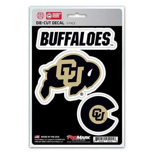 Colorado Buffaloes Decal Die Cut Team 3 Pack