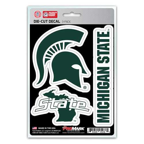 Michigan State Spartans Decal Die Cut Team 3 Pack