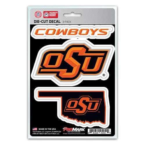 Oklahoma State Cowboys Decal Die Cut Team 3 Pack