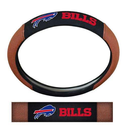 Buffalo Bills Steering Wheel Cover Premium Pigskin Style