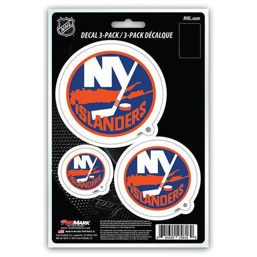 New York Islanders Decal Die Cut Team 3 Pack