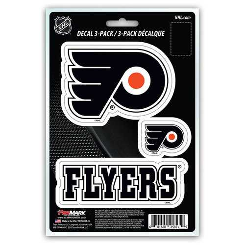 Philadelphia Flyers Decal Die Cut Team 3 Pack