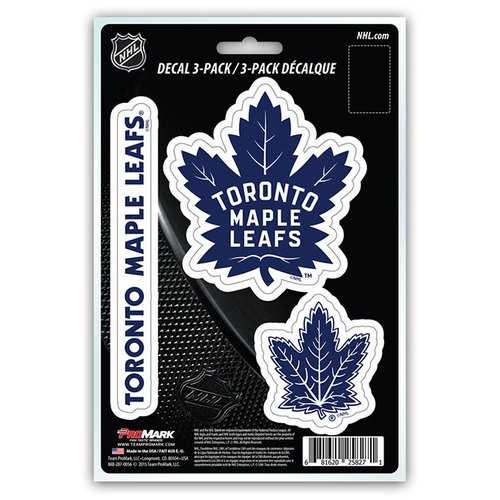 Toronto Maple Leafs Decal Die Cut Team 3 Pack
