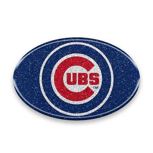 Chicago Cubs Auto Emblem - Oval Color Bling