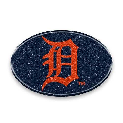 Detroit Tigers Auto Emblem - Oval Color Bling