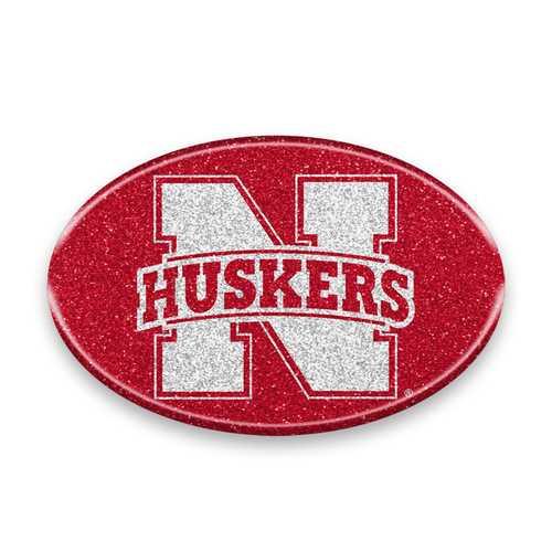 Nebraska Cornhuskers Auto Emblem - Oval Color Bling