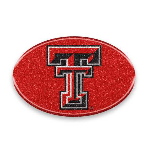 Texas Tech Red Raiders Auto Emblem - Oval Color Bling