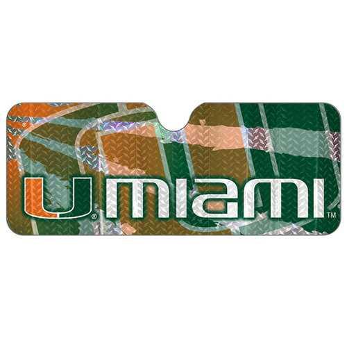 Miami Hurricanes Auto Sun Shade 59x27