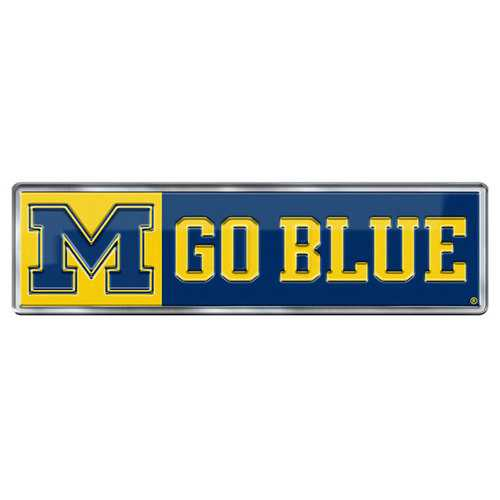 Michigan Wolverines Auto Emblem Color Alternate Logo